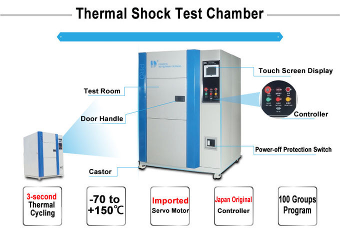 Test High Low Temperature shock Test Chamber Thermal Shock Tester SUS304 stainless steel